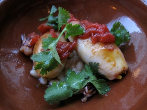 chorizo stuffed squid