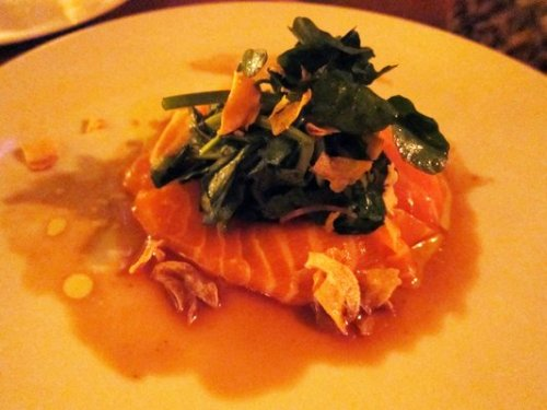 salmon belly carpaccio - yes we did get all of this.