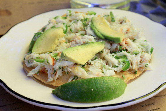 my favorite, crab tostada. the perfect light meal