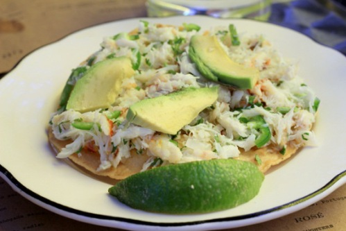 my favorite, crab tostada