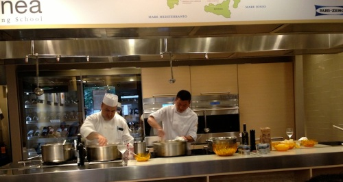 Chef Alex Pilas teaching class