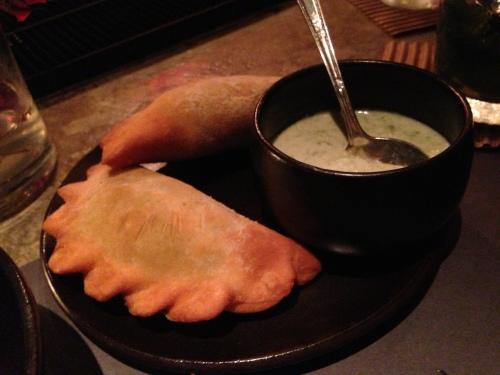 green pea empanadas - delicious!